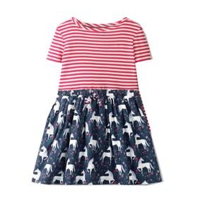 Платье для девочки Белые единороги (код товара: 49221): купить в Berni