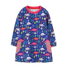 Платье для девочки Динозавры на поляне (код товара: 49226): купить в Berni