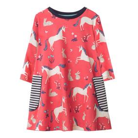 Платье для девочки Единорог и кролик (код товара: 49231): купить в Berni
