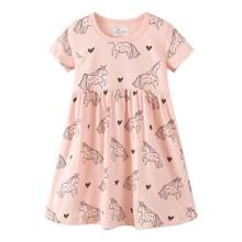 Платье для девочки Единорог и сердца (код товара: 49214)