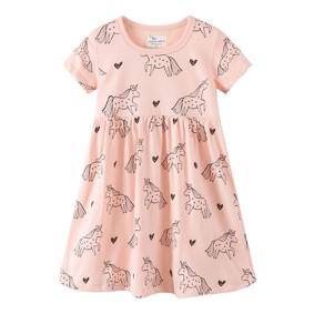 Платье для девочки Единорог и сердца (код товара: 49214): купить в Berni