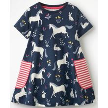 Платье для девочки Единорог и зайчик (код товара: 49208)