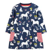 Платье для девочки Единорог и зайчик (код товара: 49228)
