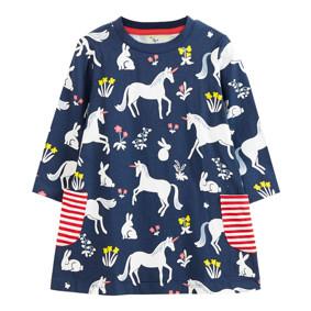 Платье для девочки Единорог и зайчик (код товара: 49228): купить в Berni
