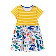 Сукня для дівчинки Морські тварини оптом (код товара: 49209)