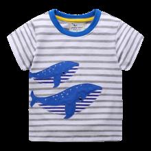 Детская футболка Синие киты (код товара: 49332)