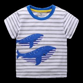 Детская футболка Синие киты (код товара: 49332): купить в Berni