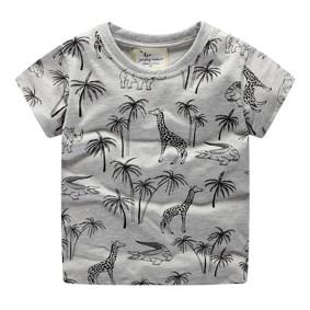 Детская футболка Жираф и крокодил (код товара: 49322): купить в Berni