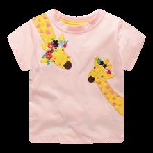 Футболка для девочки Жирафы (код товара: 49309)