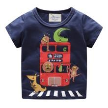 Футболка для хлопчика  Автобус з тваринами оптом (код товара: 49348)