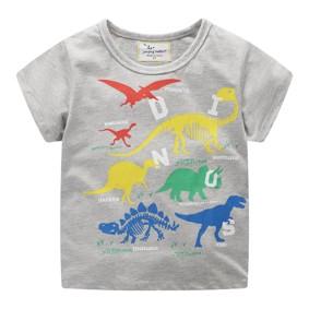 Футболка для мальчика Разноцветные динозавры (код товара: 49341): купить в Berni
