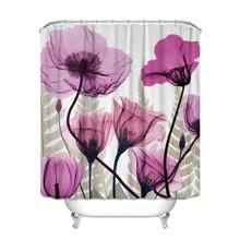 Штора для ванной Фиолетовые Маки 180 х 180 см оптом (код товара: 49386)
