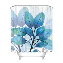 Штора для ванной Голубые листья 180 х 180 см оптом (код товара: 49387)
