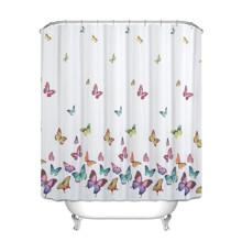 Штора для ванной Разноцветные бабочки 180 х 180 см оптом (код товара: 49391)