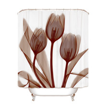 Штора для ванної Тюльпани 180 х 180 см оптом (код товара: 49385)