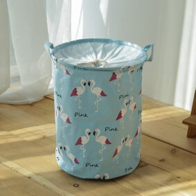 Корзина для игрушек, белья, хранения на завязках Фламинго (код товара: 49491): купить в Berni