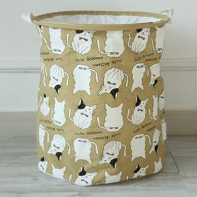 Корзина для игрушек, белья, хранения на завязках Коты (код товара: 49410): купить в Berni