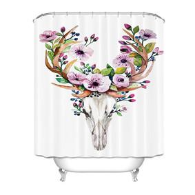 Штора для ванной Череп оленя 180 х 180 см (код товара: 49414): купить в Berni