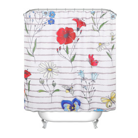 Штора для ванной Цветы 180 х 180 см (код товара: 49449): купить в Berni