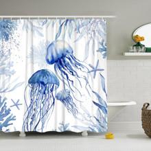 Штора для ванной Медузы 180 х 180 см оптом (код товара: 49429)