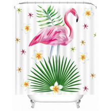 Штора для ванной Розовый фламинго 180 х 180 см оптом (код товара: 49493)