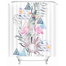 Штора для ванної Милі фламінго 180 х 180 см оптом (код товара: 49494)