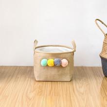 Корзина для игрушек, белья, хранения Помпоны (код товара: 49540)