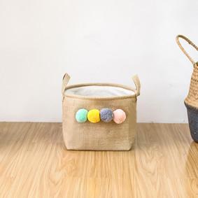 Корзина для игрушек, белья, хранения Помпоны (код товара: 49540): купить в Berni