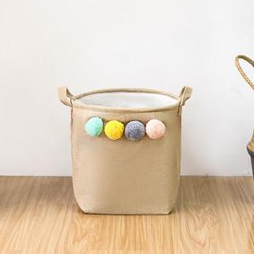 Корзина для игрушек, белья, хранения Помпоны (код товара: 49541): купить в Berni