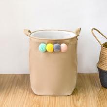 Корзина для игрушек, белья, хранения Помпоны (код товара: 49542)