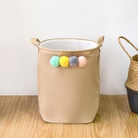 Корзина для игрушек, белья, хранения Помпоны (код товара: 49542): купить в Berni