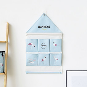 Органайзер настенный для хранения Голубой Фламинго (39 х 40 см. / 6 ячеек) (код товара: 49577): купить в Berni