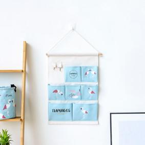 Органайзер настенный для хранения Голубой Фламинго (50 х 35 см. / 7 ячеек) (код товара: 49558): купить в Berni