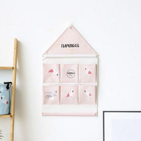Органайзер настенный для хранения Розовый Фламинго (39 х 40 см. / 6 ячеек) (код товара: 49576): купить в Berni