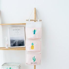 Органайзер настенный для хранения Розовый Кактус (56 х 20 см. / 3 ячейки) (код товара: 49575): купить в Berni