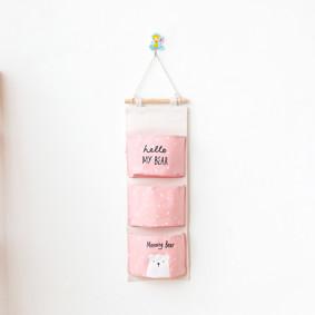 Органайзер настенный для хранения Розовый Медведь (56 х 20 см. / 3 ячейки) (код товара: 49572): купить в Berni