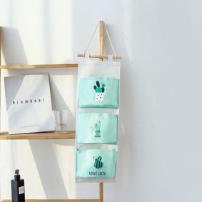 Органайзер настенный для хранения Зеленый Кактус (56 х 20 см. / 3 ячейки) (код товара: 49573): купить в Berni