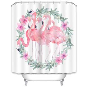 Штора для ванной Большие фламинго 180 х 180 см (код товара: 49522): купить в Berni