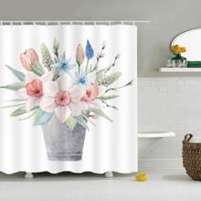 Штора для ванной Букет цветов 180 х 180 см оптом (код товара: 49505)