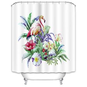 Штора для ванной Фламинго в тропиках 180 х 180 см (код товара: 49523): купить в Berni