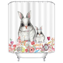 Штора для ванної Кролики 180 х 180 см оптом (код товара: 49517)