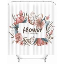Штора для ванної Квіти 180 х 180 см оптом (код товара: 49503)