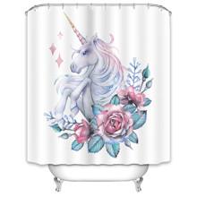 Штора для ванної Єдиноріг 180 х 180 см оптом (код товара: 49507)