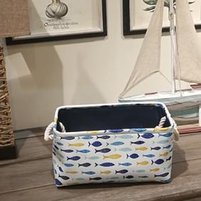Корзина для игрушек, белья, хранения Рыбки (35х25х16 см) (код товара: 49654): купить в Berni