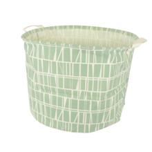 Корзина для игрушек, белья, хранения зеленая Узор (код товара: 49627)