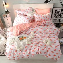 Уценка (дефекты)! Комплект постельного белья Арбуз (двуспальный-евро) (код товара: 49634)