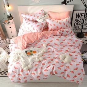 Уценка (дефекты)! Комплект постельного белья Арбуз (двуспальный-евро) (код товара: 49634): купить в Berni