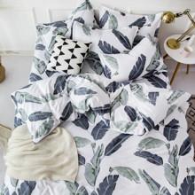Уценка (дефекты)! Комплект постельного белья Банановый лист (двуспальный-евро) (код товара: 49672)