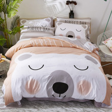 Уценка (дефекты)! Комплект постельного белья Белый мишка (полуторный) (код товара: 49662)