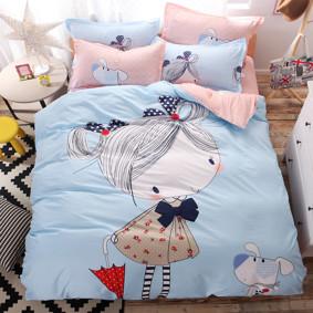 Уценка (дефекты)! Комплект постельного белья Девочка (двуспальный-евро) (код товара: 49692): купить в Berni